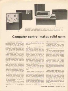 process instrumentation control 1962 ibm 1710 computer vintage article