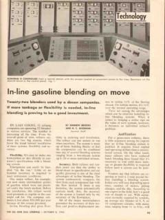 in-line gasoline blending 1962 22-blenders 12-refining vintage article
