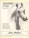 lowe arabians 1972 aramus polly knoll equestrian horse vintage ad