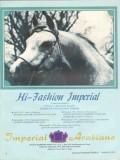 imperial arabians 1972 hi-fashion ferson stud horse vintage ad