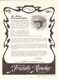 brusally ranches 1972 ed tweed championship arabian horse vintage ad