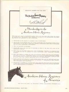 arabian horse registry america 1972 associate membership vintage ad