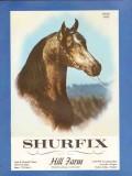 hill farm 1972 shurfix herd sire arabian horse stud vintage ad