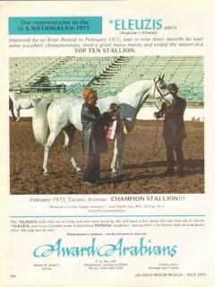 award arabians 1972 eleuzis aquinor ellenai stud equestrian vintage ad