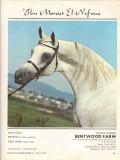 bentwood farm 1972 ibn moniet el nefous stud arabian horse vintage ad
