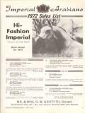 imperial arabians 1972 hi-fashion sales list stud horse vintage ad