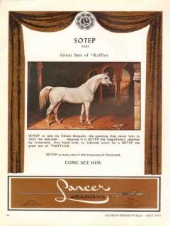 lancer arabians 1972 sotep raffles stud equestrian horse vintage ad