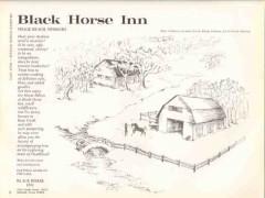 black horse inn 1972 wanda johnson arabian stud vacation vintage ad