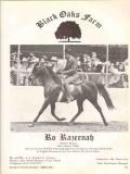 black oaks farm 1972 ro razeenah rabol rasray arabian stud vintage ad