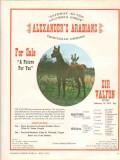 alexanders arabians 1972 sir valfon raffon rifishta horse vintage ad