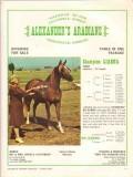 alexanders arabians 1972 liahna na ganna stud horse vintage ad