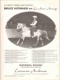 caravan arabians 1972 ga amir amage bruce howard stud horse vintage ad