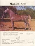 bentwood farm 1972 moniet el nefous stud arabian horse vintage ad