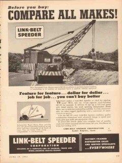 link-belt speeder corp 1953 compare makes marr equipment co vintage ad