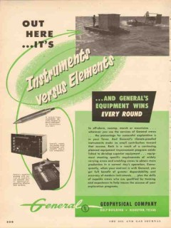 General Geophysical Company 1953 Vintage Ad Oil Instruments Elements