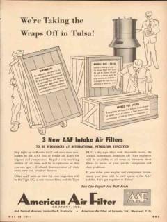 American Air Filter Company 1953 Vintage Ad Tulsa International Expo