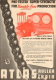 Atlas Chain Mfg Company 1953 Vintage Ad Pre-Tested Super Strength