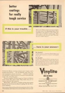Bakelite Company 1953 Vintage Ad Vinylite Resin Better Coating Service