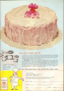 international milling company 1959 lady orchid kit baking vintage ad