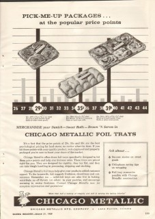 chicago metallic mfg company 1959 foil trays packages baker vintage ad