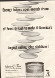basic foods sales corp 1959 frost-o-fast icing stabilizer vintage ad
