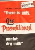 bowman dairy company 1959 preconditioned nonfat dry milk vintage ad