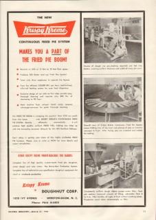 krispy kreme doughnut corp 1959 continuous fried pie system vintage ad