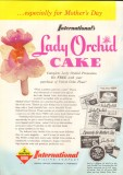 international milling company 1959 lady orchid mothers day vintage ad