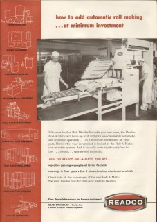 capital products corp 1959 readco roll-a-matic roll making vintage ad