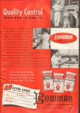 bowman dairy company 1959 quality control nonfat dry milk vintage ad