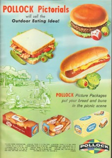 pollock paper corp 1959 pictorials sell outdoor eating idea vintage ad