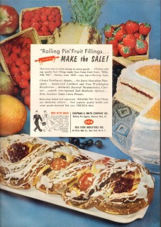 chapman smith company 1959 rolling pin fruit fillings sales vintage ad