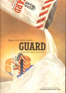 anheuser-busch inc 1959 guard mold rope inhibitor baking vintage ad