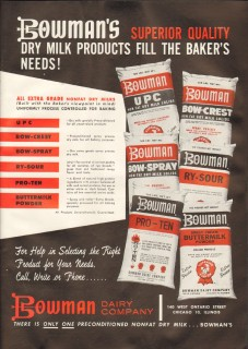 bowman dairy company 1959 superior quality dry milk product vintage ad