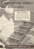chicago metallic mfg company 1959 sani-matic engineering vintage ad