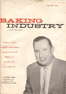 baking industry 1959 l carroll cole bakeries muskegon mi vintage ad