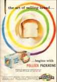 pollock paper corp 1959 packaging art selling bread baking vintage ad