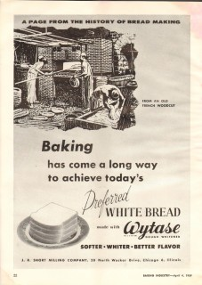 j r short milling company 1959 wytase dough whitener baking vintage ad