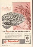 international milling company 1958 flaky crust baking flour vintage ad