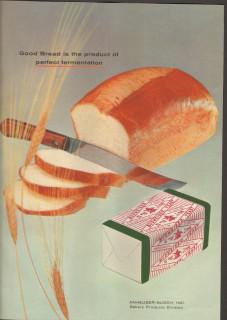 anheuser-busch 1958 good bread perfect fermentation baking vintage ad