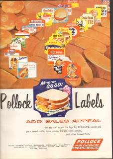 pollock paper corp 1958 labels add sales appeal packaging vintage ad