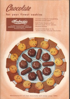 ambrosia chocolate company 1959 your finest cookies baking vintage ad