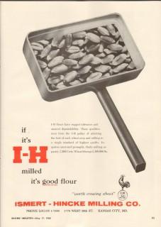 ismert-hincke milling company 1959 best wheat crops baking vintage ad