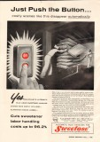 a e staley mfg company 1958 push button bulk liquid handle vintage ad