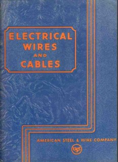 American Steel Wire Company 1942 Vintage Catalog Electrical Conductors