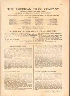 American Brass Company 1949 Vintage Catalog Anaconda Copper Alloys