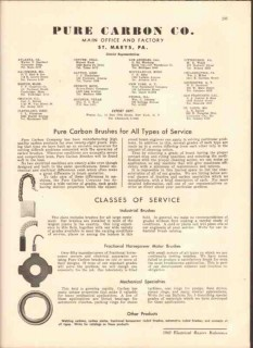 Pure Carbon Company 1942 Vintage Catalog Motor Brushes Industrial