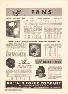 Buffalo Forge Company 1942 Vintage Catalog Fans Belt Drive Breeze Air