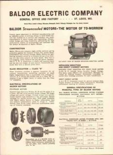 Baldor Electric Company 1942 Vintage Catalog Motors Streamcooled