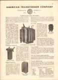 American Transformer Company 1942 Vintage Catalog Power Distribution